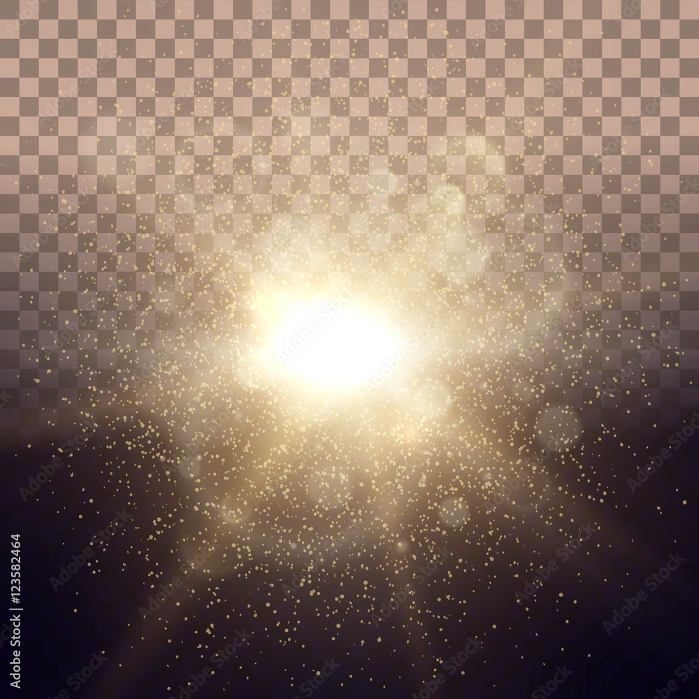 Fototapety, obrazy: Solar Dawn glow lighting lights ray transparent background with pink lens effect. Easy to change the background. Vector illustration