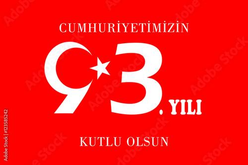 Fotografie, Obraz  cumhuriyet bayramı