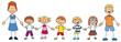 Großfamilie Mutter Vater und fünf Kinder
