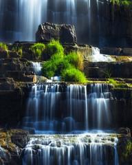 Fototapeta Popularne Tropical rainforest landscape with flowing Pongour waterfall. Da Lat, Vietnam