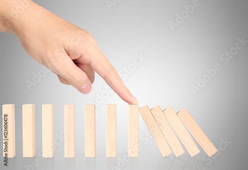 Aluminium Prints Equestrian hand stop dominoes continuous toppled