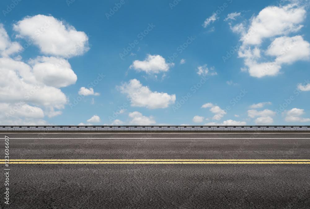Fototapety, obrazy: roadside with blue sky background
