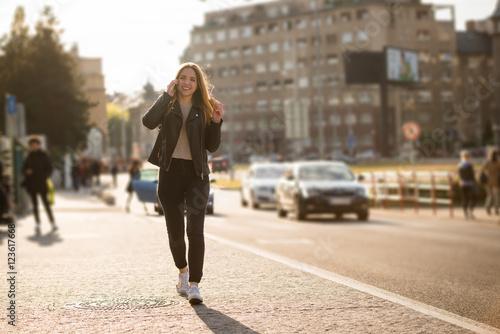 Fotografie, Obraz  Eat, walk and talk