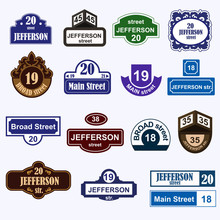 House Numbers Boards Sign Isol...