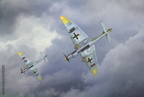 Photo World War 2 German Dive Bomber Painting