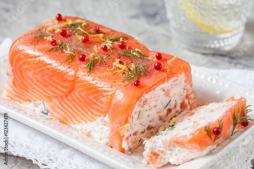 Photo sur Aluminium Entree Delisius salmon terrine