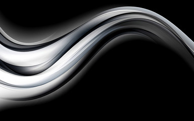 Amazing Abstract Grey Wave Design Background
