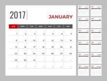Calendar 2017 Planning Templat...