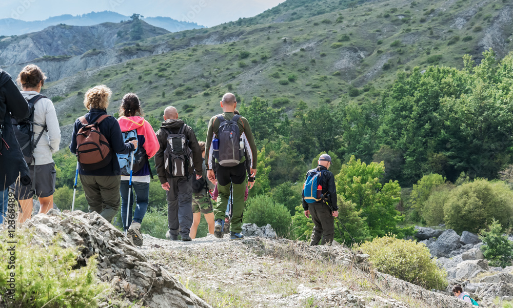 Fototapety, obrazy: Trekking in montagna