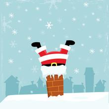 Santa Stuck In The Chimney