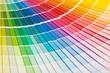 Leinwandbild Motiv Open Pantone sample colors catalogue.