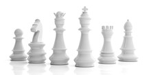 Basic Chess Set On White Backg...
