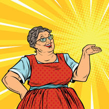 Joyful Woman Grandma Promoter