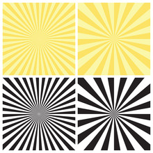 Set Of Abstract Radial Sunburs...