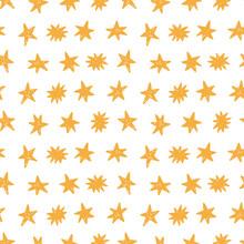 Hand Drawn Stars Modern Seamless Pattern Background