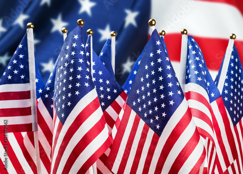 1f7e6badd95 small American flags in the background the big usa flag - Buy this ...