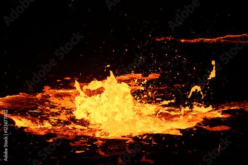 Lava bubbles of Volcano Erta Ale, Ethiopia