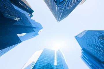 Fototapeta na wymiar modern blue building