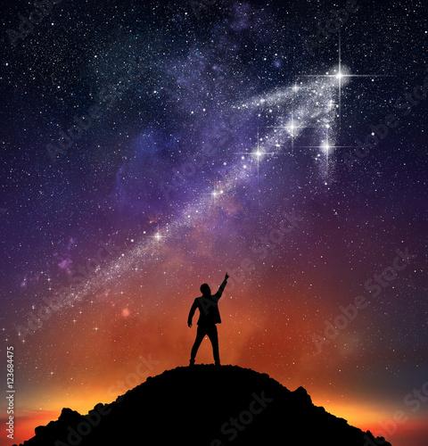 Obraz Star arrow upwards - fototapety do salonu