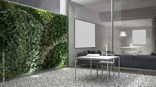 Fotografie, Obraz  Vertical gardening, office courtyard