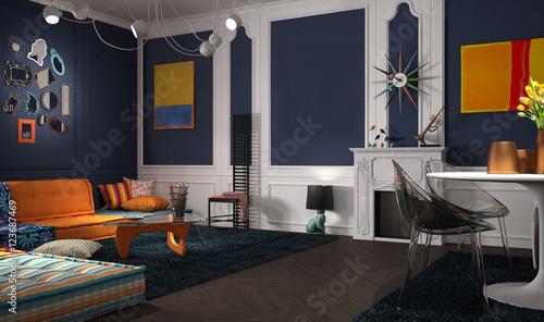 Eclectic And Classic Lounge Kaufen Sie Diese Illustration Und