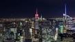Manhattan Skyline at Night Timelapse New York City