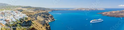 Foto op Plexiglas Caraïben Nea Kameni volcanic island in Santorini Greece