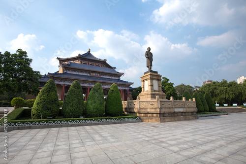 Fototapeta Sun yat sen memorial hall in guangzhou china. obraz