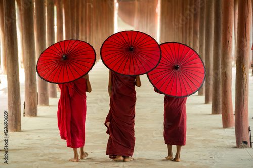 Fototapeta These novices or priests in Burma. obraz