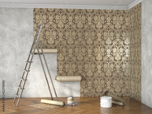 Fotografie, Obraz  hang wallpaper; 3d illustration