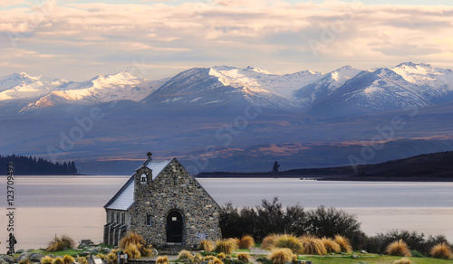 Fotografia  Church of the Good Shepherd built since 1935, Lake Tekapo, New Z