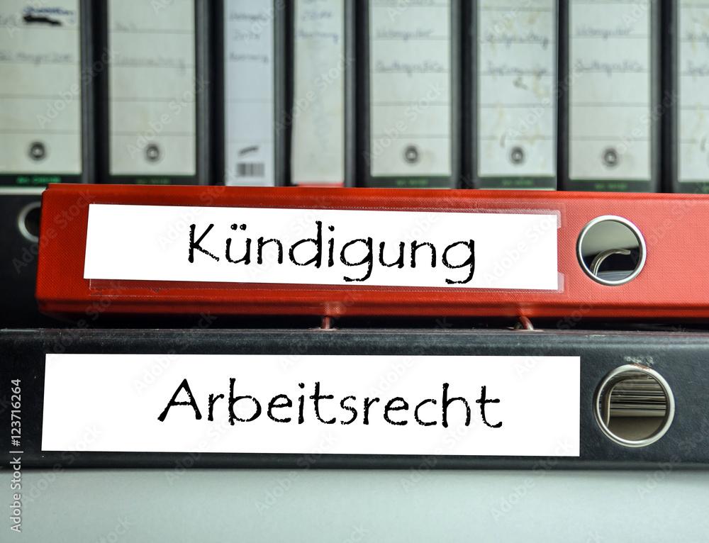 Kündigungarbeitsrecht Aktenordner Foto Poster Wandbilder Bei