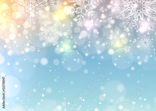 Christmas background with snowflakes плакат