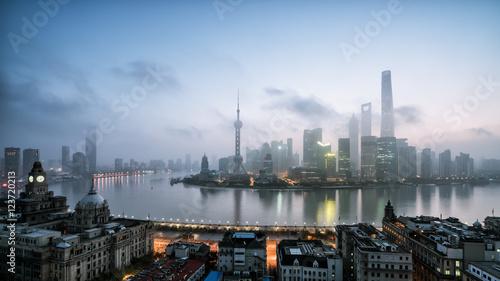 Poster Londres Panoramic skyline of Shanghai