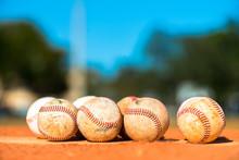 Baseballs On Pitchers Mound