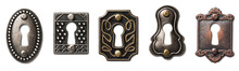 Five Decorative Antique Keyhol...