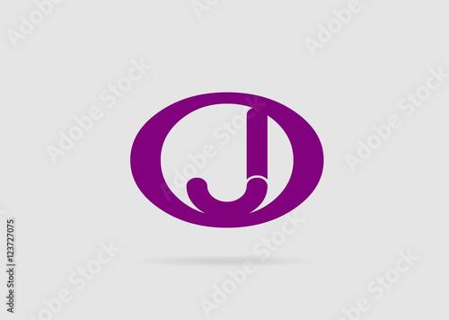 letter j logo icon design template elements