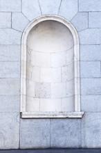 Semicircular Niche Empty In A Granite Wall