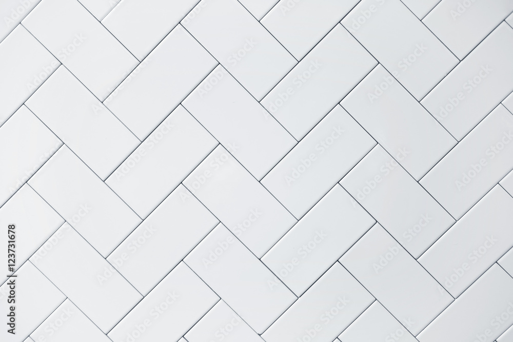 Fototapeta white ceramic brick tile