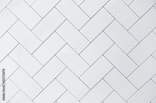 Slika na platnu white ceramic brick tile