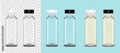 Fototapeta  Transparent empty plastic bottle