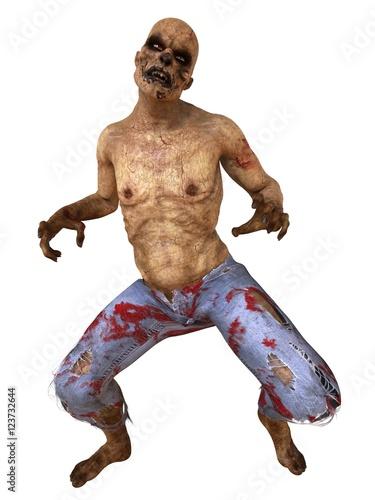 Plakat Ilustracja 3D Zombie Potwór