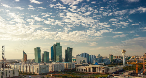 Astana at evening Canvas Print