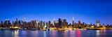 Fototapeta Nowy Jork - New York City Skyline Panorama als Hintergrund
