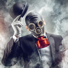The Gentleman In The Gas Mask