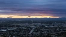 San Fernando Valley Near Los Angeles Day To Night Timelapse