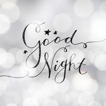 Good Night Lettering, Vector H...