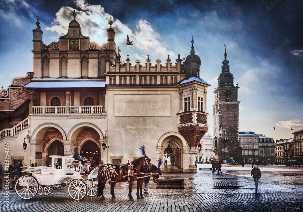 Fototapety, obrazy: Cracow /Krakow carriage , in Poland , Europe