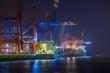canvas print picture - Hafen in Hamburg