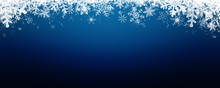 Blue Winter Background With Sn...
